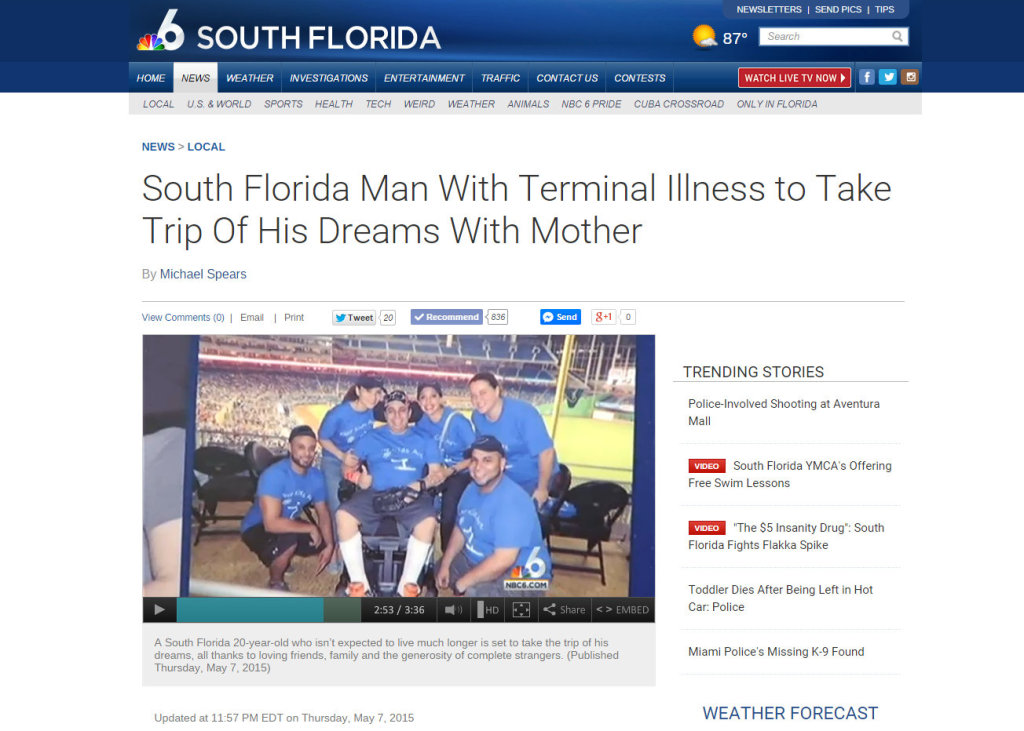 South Florida Man With Terminal Illness to Take Trip Of His Dreams With Mother NBC 6 South Florida - Google Chrome 5132015 33730 PM2