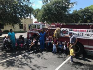 PediPec Broward july firetruck trip